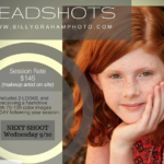 Headshot Photoshoot, Next Wednesday, Sept 20th